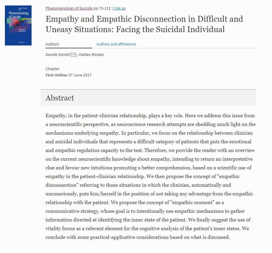 Empathy in Springer Donelli Rizzato